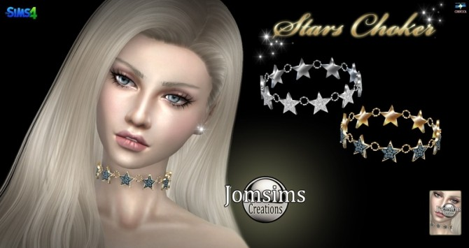 Stars choker at Jomsims Creations image 1031 670x355 Sims 4 Updates