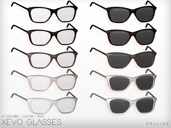 XEVO Glasses by Pralinesims at TSR image 10315 Sims 4 Updates