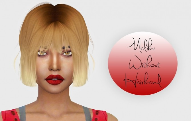 LeahLillith Malibu Hair Without Hairband at Simiracle image 1036 670x427 Sims 4 Updates