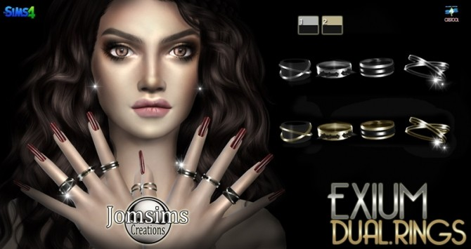 EXIUM dual rings at Jomsims Creations image 1041 670x355 Sims 4 Updates