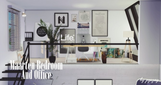 Maarten Bedroom & Office at Pyszny Design image 10412 670x355 Sims 4 Updates