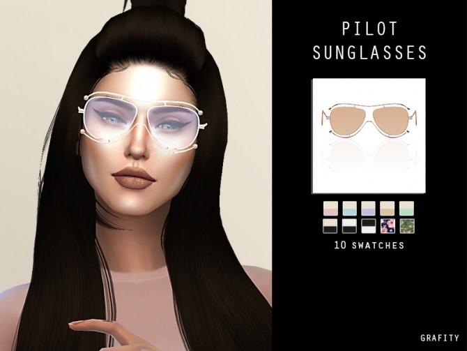 PILOT SUNGLASSES at Arthurlumierecc – AL image 10413 670x503 Sims 4 Updates