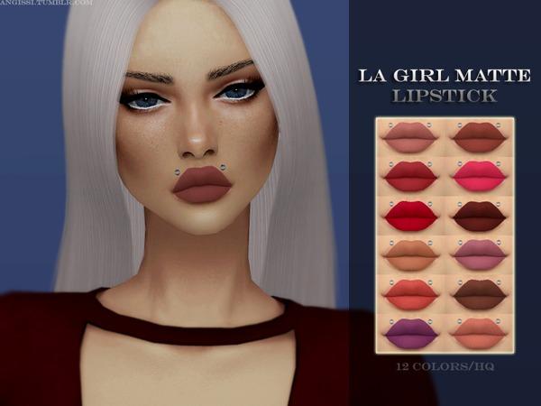 Sims 4 LA Girl Matte Lipstick by ANGISSI at TSR