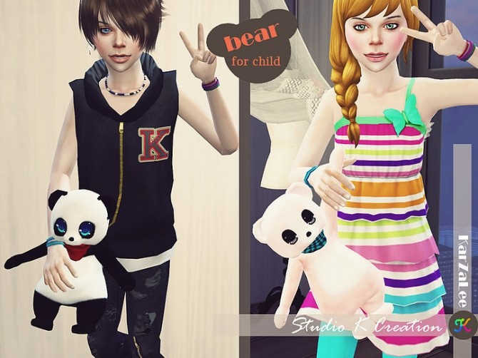 Sims 4 Teddy bear toy for child at Studio K Creation