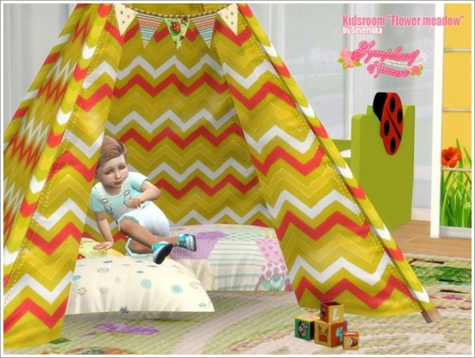 Sims 4 Flower meadow kidsroom at Sims by Severinka