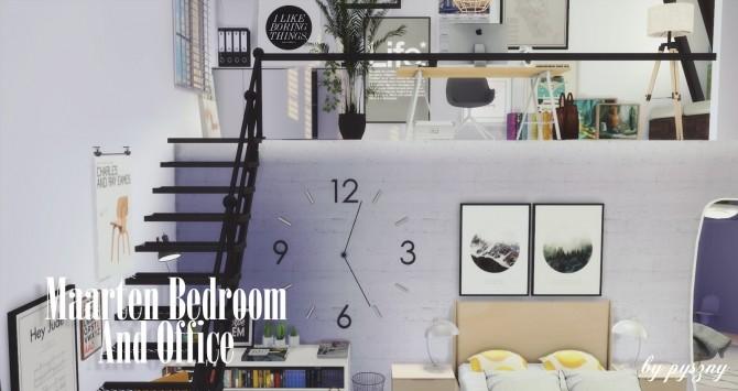 Maarten Bedroom & Office at Pyszny Design image 10512 670x355 Sims 4 Updates