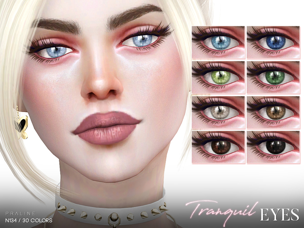 Sims 4 Tranquil Eyes N134 by Pralinesims at TSR