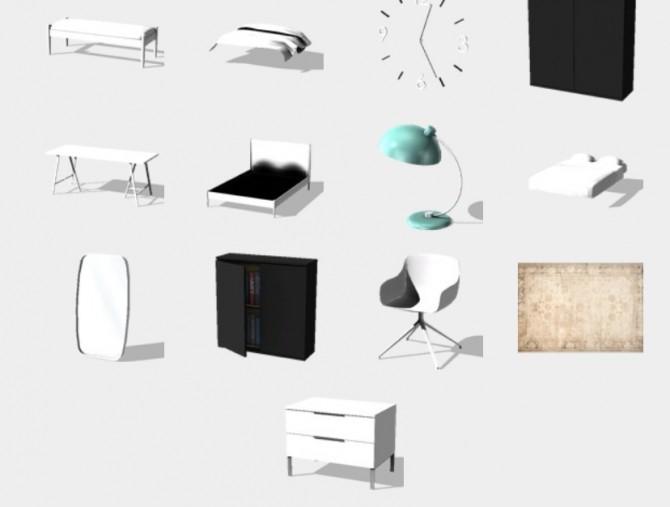 Maarten Bedroom & Office at Pyszny Design image 10612 670x507 Sims 4 Updates