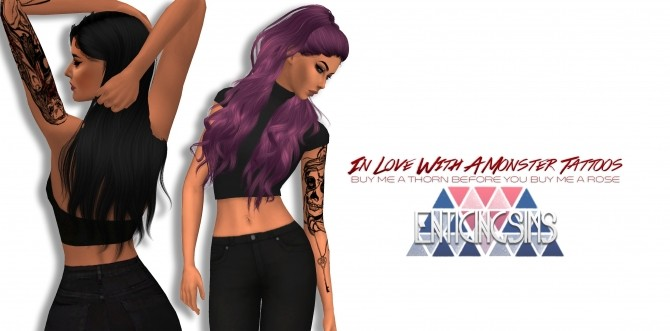 Sims 4 In Love With A Monster Arm Tattoos by EnticingSims at SimsWorkshop