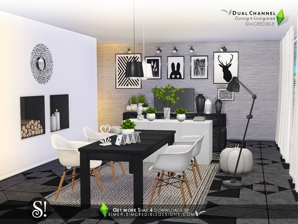 Dual Channel diningroom by SIMcredible at TSR image 1080 Sims 4 Updates