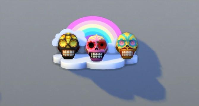 Sims 4 Sugar Skull Display Case Unlocker and Purchasable Sugar Skulls by darkdatatrc at Mod The Sims