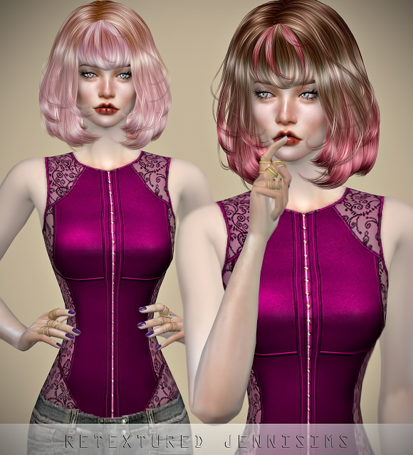 Sims 4 Newsea TwinkleTwinkle Hair retexture at Jenni Sims