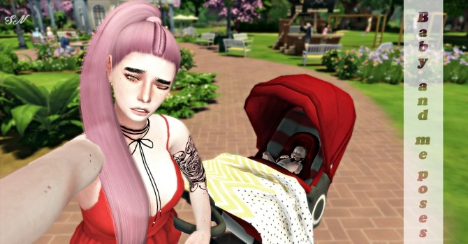 Baby and me posepack at Simsnema image 1098 670x350 Sims 4 Updates