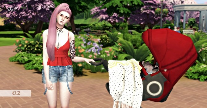 Sims 4 Baby and me posepack at Simsnema
