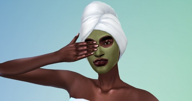 Sims 4 Acne Mask for your skin conscious sleeping sims by daniabi at Mod The Sims