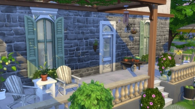 Sims 4 Campagne et chic house by SundaySims at Sims Artists