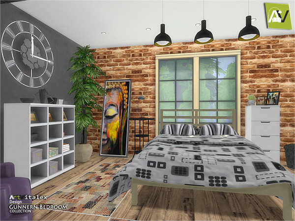 Gunnern Bedroom by ArtVitalex at TSR image 1102 Sims 4 Updates
