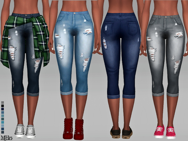 Sims 4 Evi Jeans by Margeh 75 at TSR