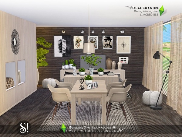 Dual Channel diningroom by SIMcredible at TSR image 11101 Sims 4 Updates