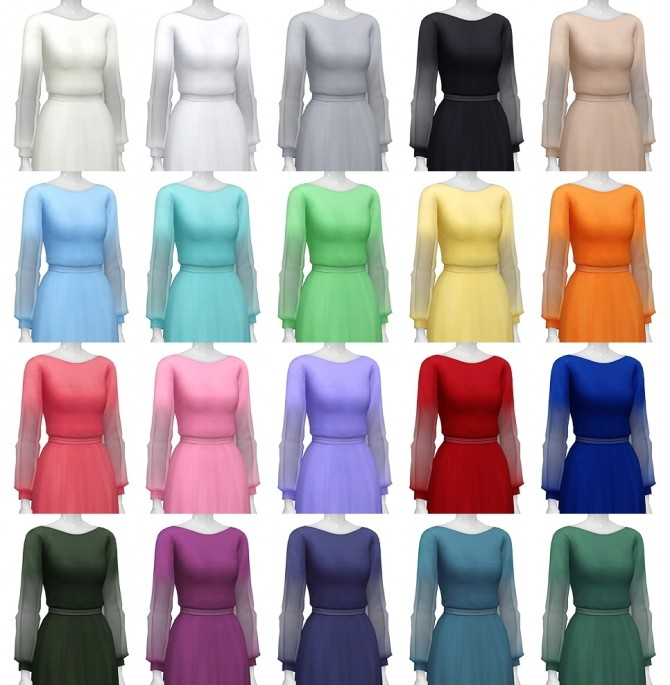 Long sleeve dress at Rusty Nail image 1121 670x685 Sims 4 Updates