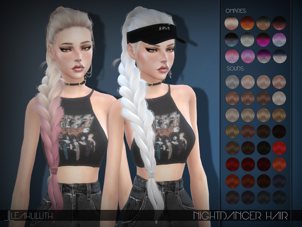Nightdancer Hair by LeahLillith at TSR image 1125 Sims 4 Updates