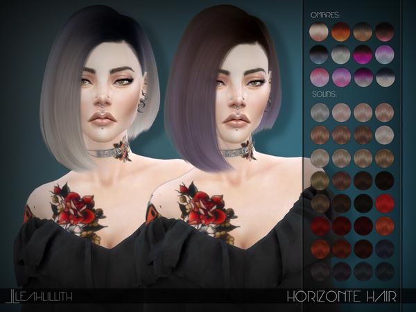 Sims 4 Horizonte Hair by Leahlillith at TSR