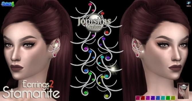 Sims 4 Stamanite 2 earrings at Jomsims Creations