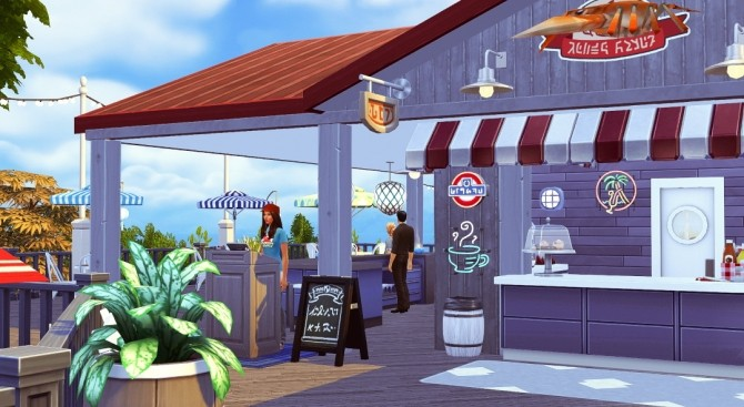 The Lobster Dock seafood restaurant at Jenba Sims image 1143 670x367 Sims 4 Updates