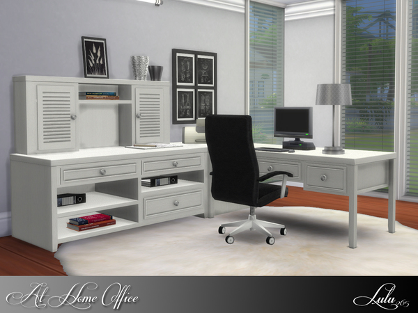 At Home Office by Lulu265 at TSR image 1148 Sims 4 Updates