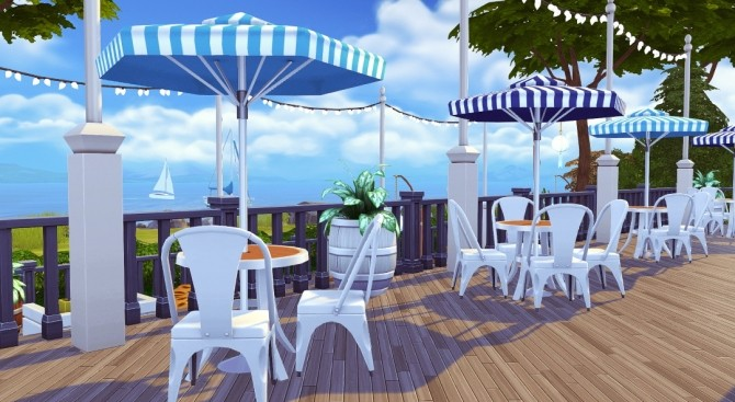 Sims 4 The Lobster Dock seafood restaurant at Jenba Sims