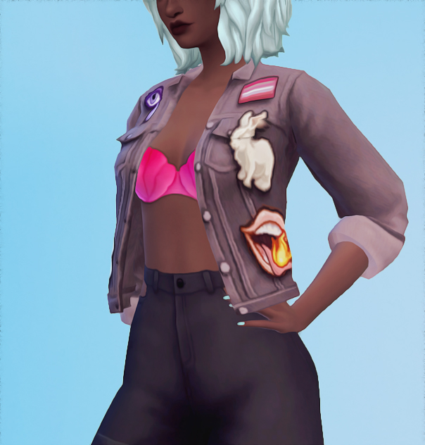 Sims 4 Acc jacket with patches recolour at Valhallan