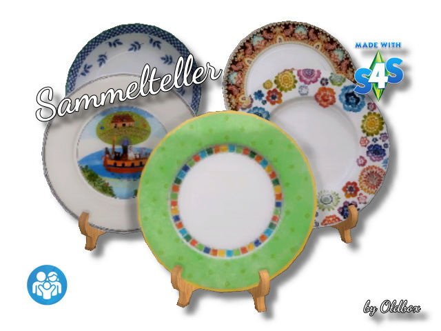 Sims 4 Deco plates by Oldbox at All 4 Sims