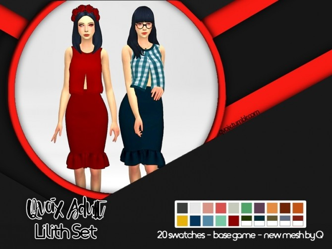 Sims 4 Lilith Set at qvoix – escaping reality