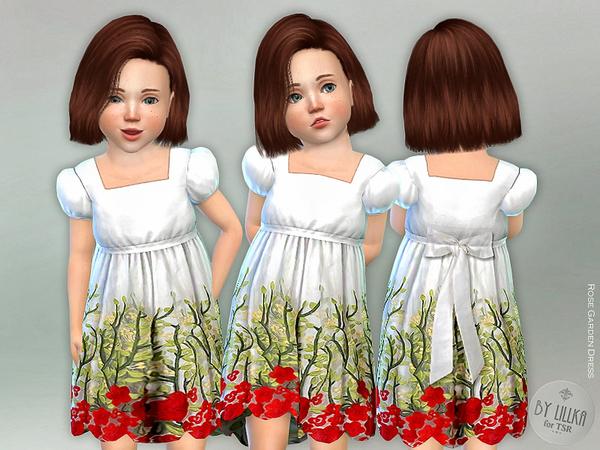Sims 4 Rose Garden Dress by lillka at TSR