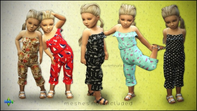 Sims 4 Jumpsuits 4 US for moms & toddlers at Rimshard Shop