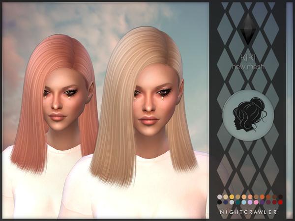 Sims 4 Kiki hair by Nightcrawler at TSR
