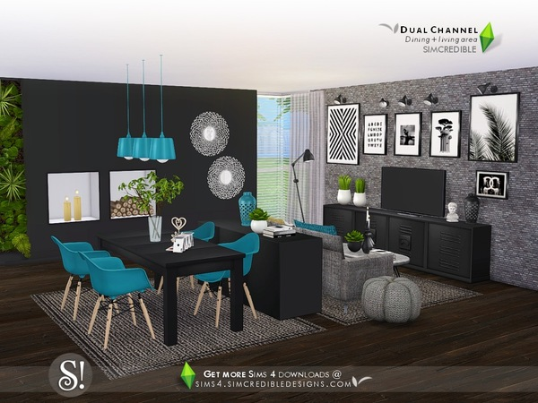 Dual Channel diningroom by SIMcredible at TSR image 1249 Sims 4 Updates