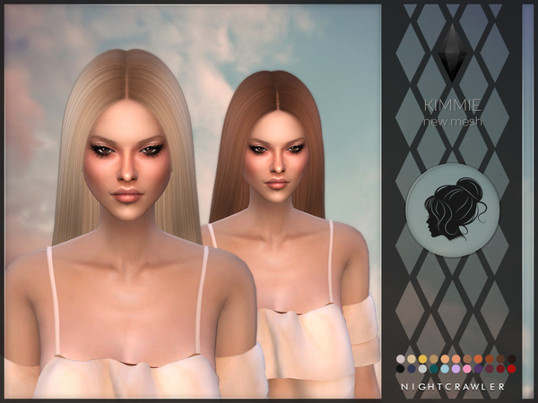 Kimmie hair by Nightcrawler at TSR image 1250 Sims 4 Updates