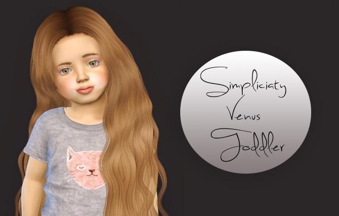 Sims 4 simpliciaty cc Venus Toddler Version at Simiracle