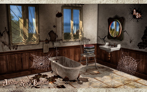 Antique Rusty Bathtub at Abandoned Sims image 1273 Sims 4 Updates