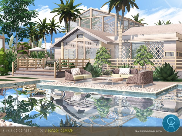 Coconut 3 house by Pralinesims at TSR image 1310 Sims 4 Updates