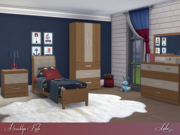 Sims 4 Brooklyn Kids bedroom by Lulu265 at TSR