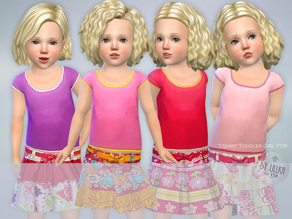 Sims 4 T Shirt Toddler Girl P05 by lillka at TSR