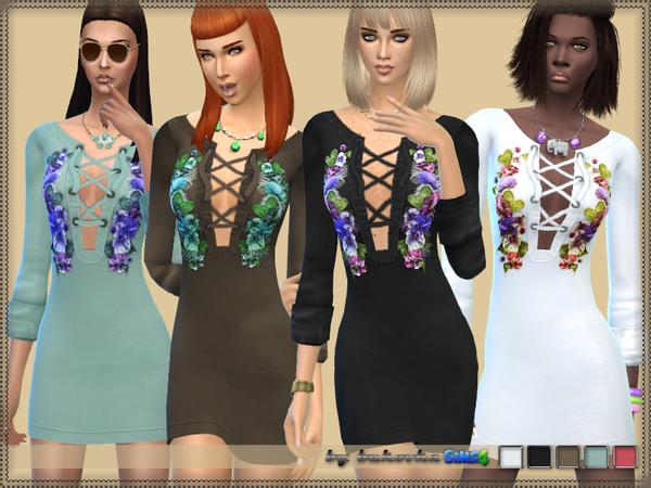Sims 4 Dress & Embroidery by bukovka at TSR