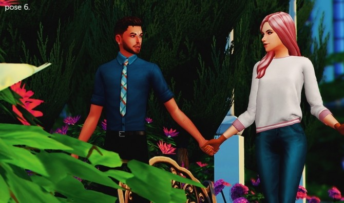 Sims 4 WHEN I'M WITH YOU PT. II POSE PACK at Wyatts Sims