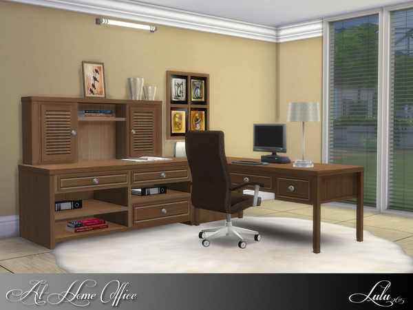 At Home Office by Lulu265 at TSR image 1325 Sims 4 Updates