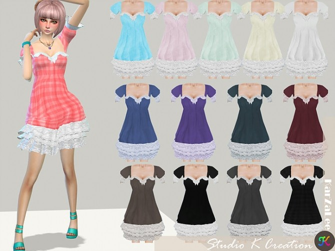 Sims 4 Secret Pink Luludress type D at Studio K Creation