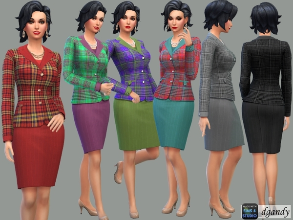 Sims 4 Business Suit with Plaid Jacket by dgandy at TSR