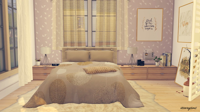 Golden Dreams Bedroom at Evey Sims image 1353 Sims 4 Updates