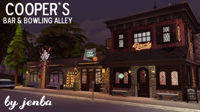 Sims 4 Cooper's Bar & Bowling Alley at Jenba Sims